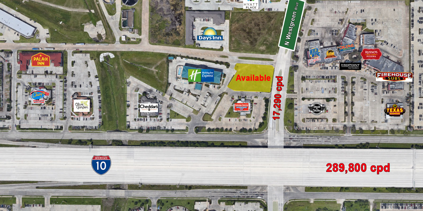 I-10 near Westgreen-Available Pad Sites